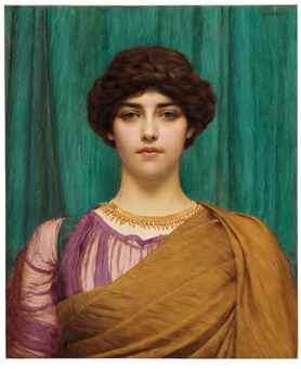 JOHN WILLIAM GODWARD, R.A. (1861-1922) A Pompeian Lady Price Realized: £194,500