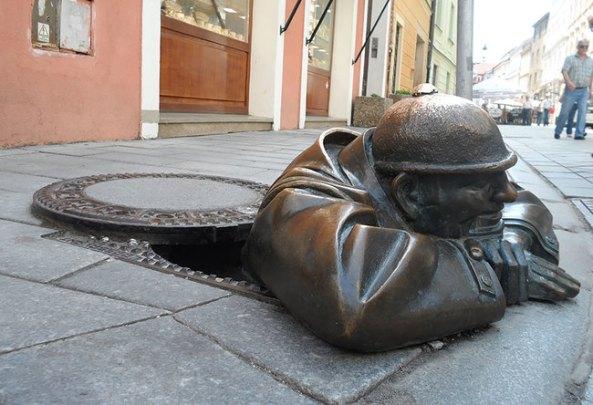 Man At Work (Bratislava, Slovakia)