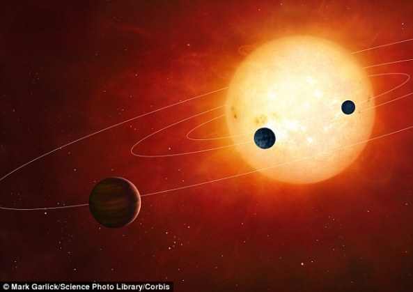 Though astronomers are still awaiting concrete evidence, theoretical arguments suggest that many exoplanets should be able to maintain an atmosphere as massive that of Earth. Pictured is an artist's impression of a hypothetical planetary system.