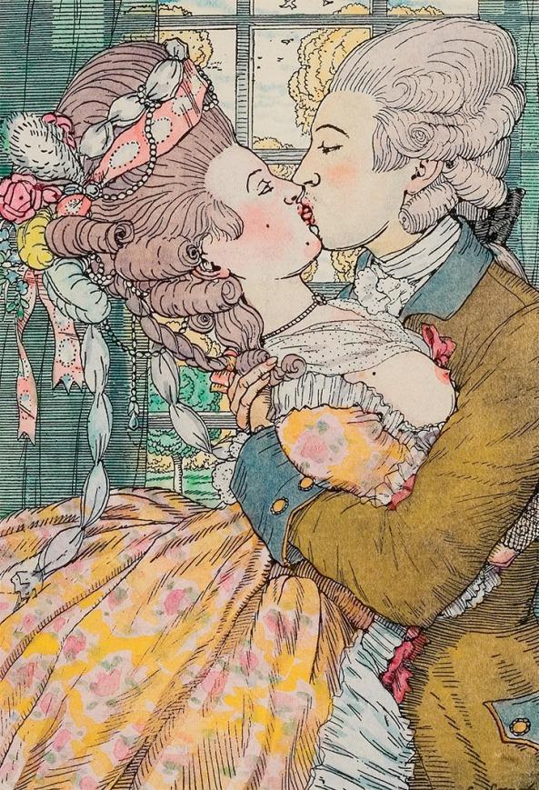 K. Somov. A Kiss. (1908)