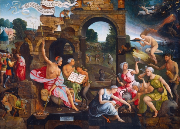 Jacob Cornelisz. van Oostsanen (circa 1472/1477-1533) Saul and the witch of Endor. Date 1526