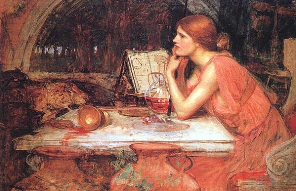 The Sorceress  by John William Waterhouse