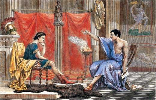 Aristotle mentors Alexander