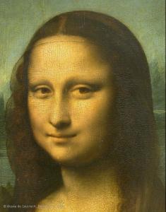 LEONARDO DA VINCI (Vinci, 1452 - Amboise, 1519) - Portrait of Lisa Gherardini, wife of Francesco del Giocondo, known as the Mona Lisa (the Joconde in French), c. 1503–06)
