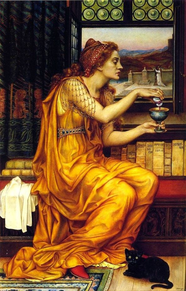 The Love Potion by  Evelyn De Morgan.