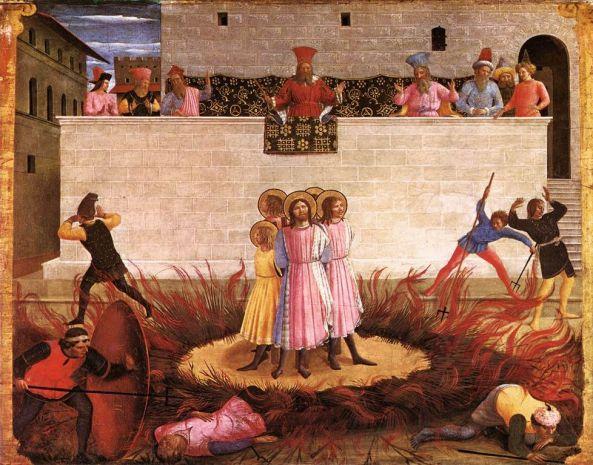 Saint Cosmas and Saint Damian Condamned Date between 1438 and 1440