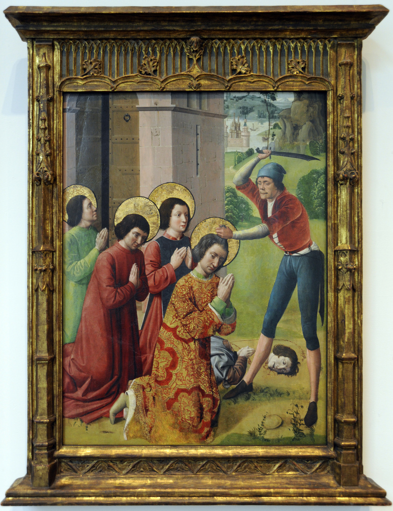 Northern french martyrdom of saints cosmas and damian with their three