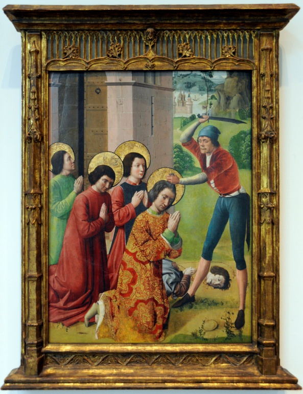 Northern French Martyrdom of Saints Cosmas and Damian with their Three Brothers, part of an altarpiece Date circa 1480.