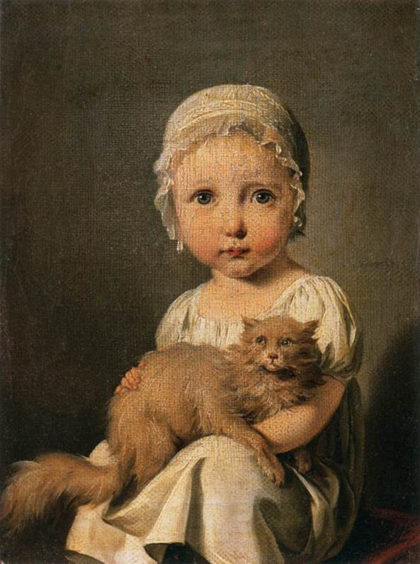 Louis-Léopold Boilly. Gabrielle Arnault as a Child. 1815