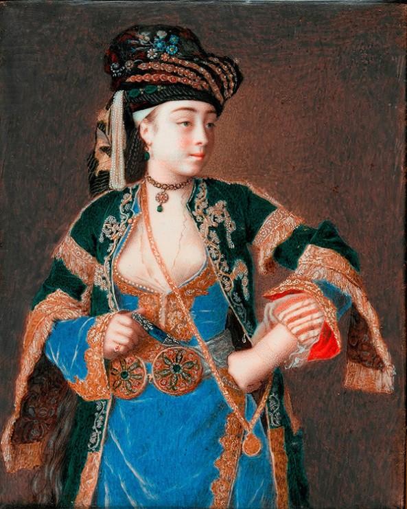 Jean-Etienne Liotard. Laura Tarsi, 1741. Fitzwilliam Museum, Cambridge