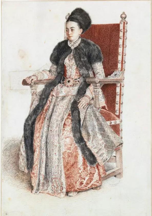Jean-Etienne Liotard. Ekaterina Mavrocordat, 1742-43