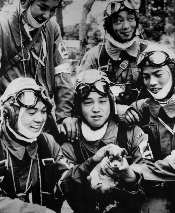 Kamikaze pilots. Of those in the picture, only a puppy will survive.