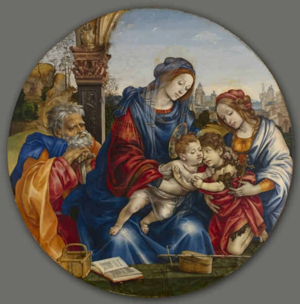 The Holy Family with Saint John the Baptist and Saint Margaret, c. 1495 Filippino Lippi (Italian, 1457-1504)