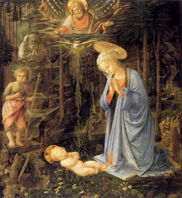 Fra Filippo Lippi, Adoration in the Forest.