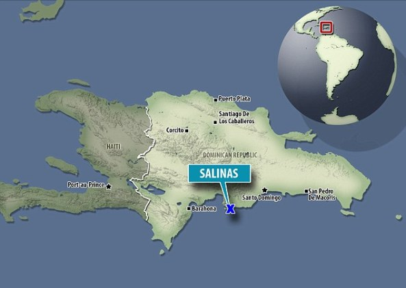 Around two per cent - or one in 90 - babies from Salinas, marked above on the map, are thought to be born with the condition, which occurs due to a missing enzyme during pregnancy