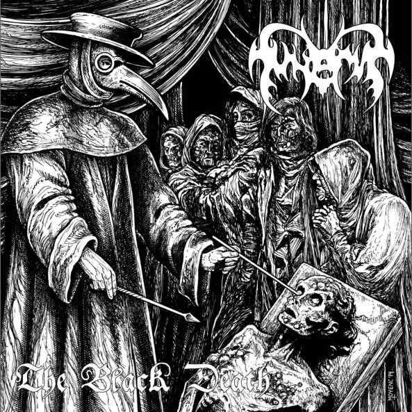 "7"" version of The Black Death released by Dark Descent Records."