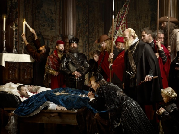Erwin Olaf. Last Honors to the Remains of the Counts Egmont and Horn. 2012. Digital print. © Erwin Olaf. © Commissioned by Gaasbeek Castle. © Courtesy Galerie Rabouan Moussion, Paris, France
