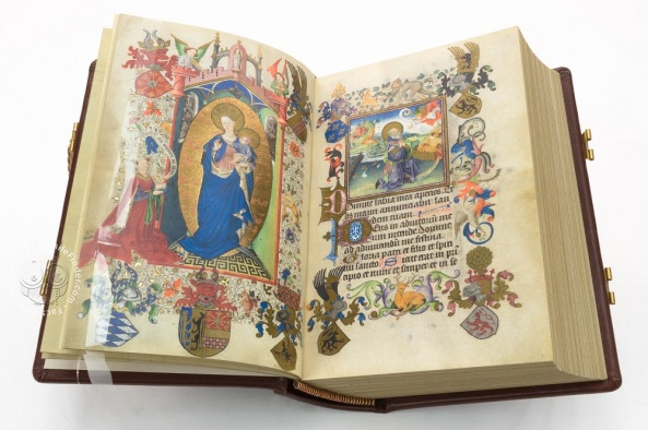 Book of Hours of Catherine of Cleves. Text: Latin. Artist: Master of Catherine of Cleves. Utrecht, Netherlands, about 1440 year. Tempera on parchment. The Morgan Library and Museum, New York / The Hours of Catherine of Cleves, c. 1440, MS M.945, f. 60v, The Morgan Library & Museum.