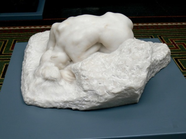 Auguste Rodin. Danaid, 1885, a sculpture dedicated to Camille Claudel.