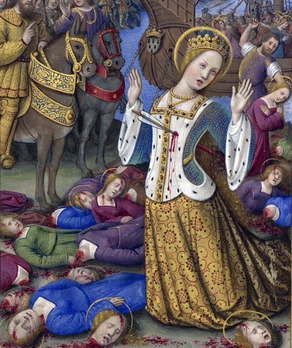 """Saint Ursula and the 11,000 Virgins"" Jean Bourdichon, 1503-1508."