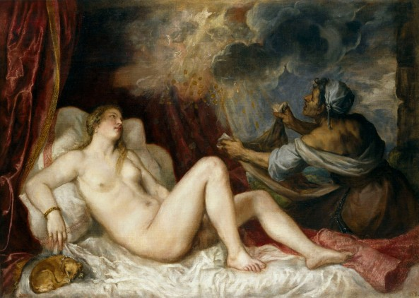 titian. diane receiving the golden rain